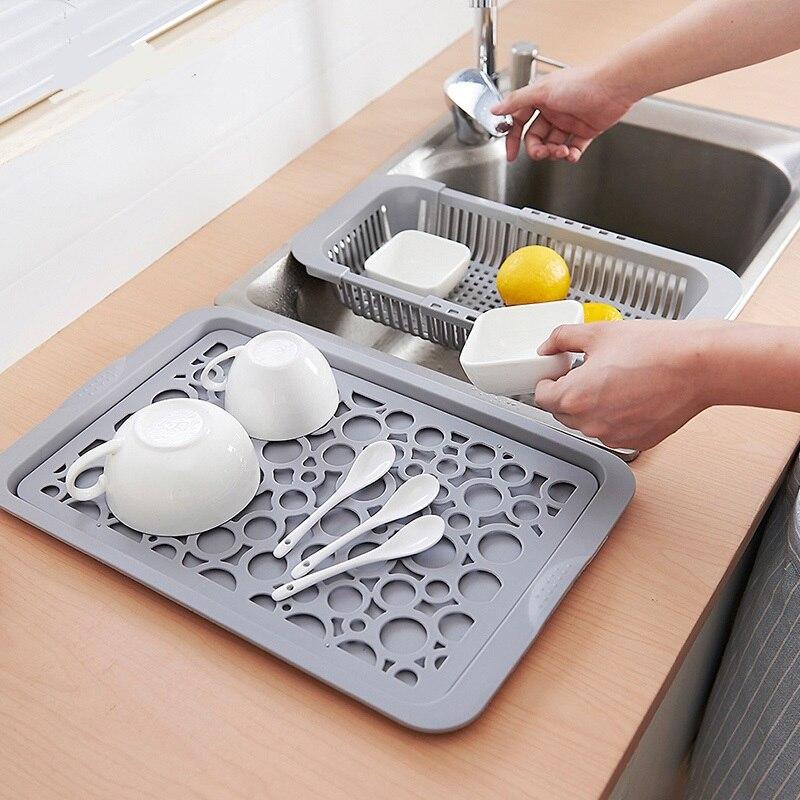 Kitchen Organizer Double Layer Dish Drainer Multifunctional Drying Rack Washing Holder Storage Rack CF-138