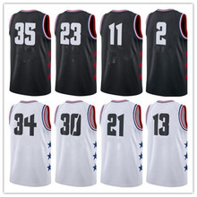 ebf8dd387a0 New 2019 All Star Games 23 black white basketball jersey Custom Name  Stitched Mens AND Kids