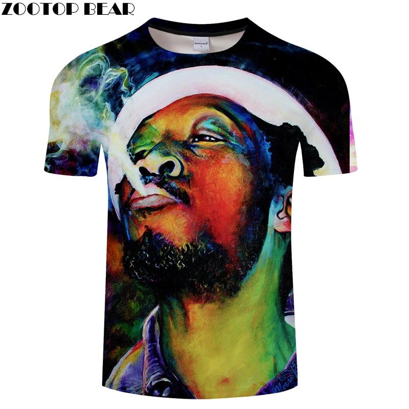Head Image Print 3D T shirts Men Women tshirts Summer Cartoon Short Sleeve O-neck Tops&Tees 2018 New Hot Drop Ship ZOOTOP BEAR