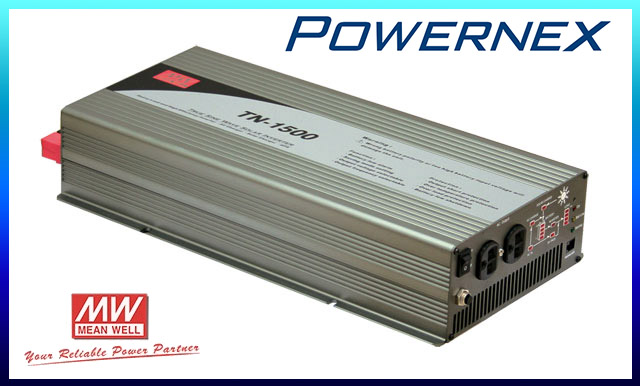 цена на [PowerNex] MEAN WELL TN-1500 meanwell TN-1500 1500W True Sine Wave DC-AC Inverter with Solar Charger