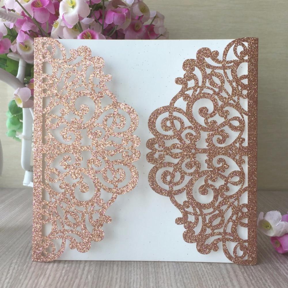 30pcs luxuryl glitter rose gold and gold paper handmade