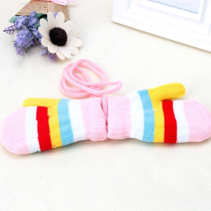 Hot! Snow Gloves Kids Mitten Children Knit Velvet Warm Kid Gloves Winter 1 Pair