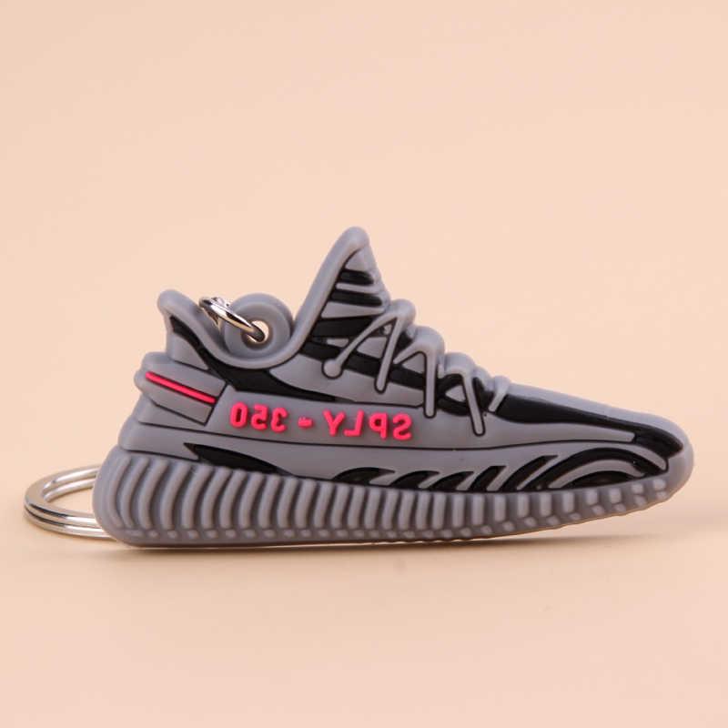 Móc Khóa Mini Silicone SPLY-350 V2 Giày Móc Khóa Người Phụ Nữ Nam Trẻ Em Tặng Móc Khóa Bóng Rổ Giày Sneaker Porte Clef
