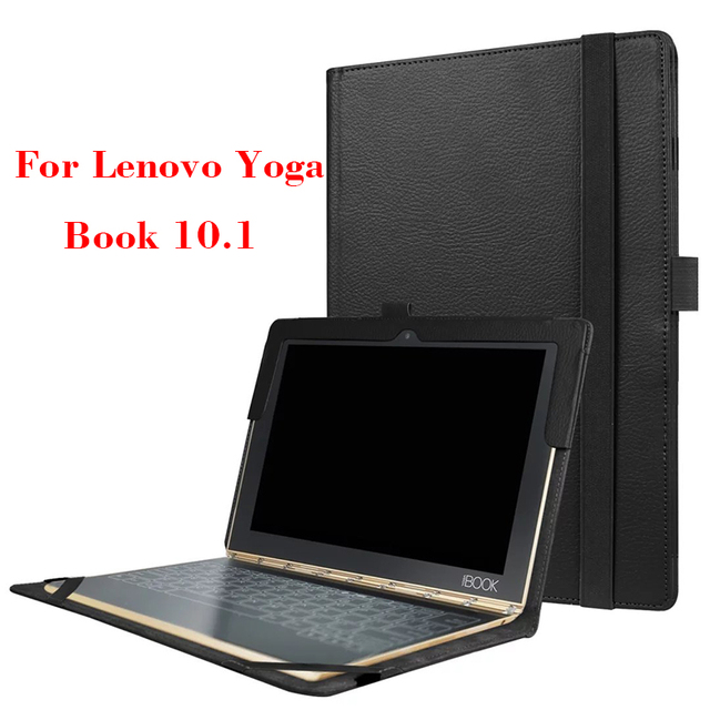 new concept 7d873 e207f US $8.46 5% OFF|Yoga Book Filp Leather Cover Case Ultra Slim Cases Cover  For Lenovo Yoga Book 10.1'' Protective Stand case for YB1 X91F-in Tablets &  ...
