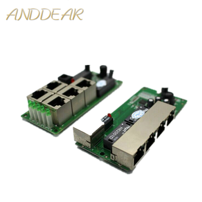 high quality mini cheap price 5 port switch module manufaturer company PCB board 5 ports ethernet network switches module-in Network Switches from Computer & Office