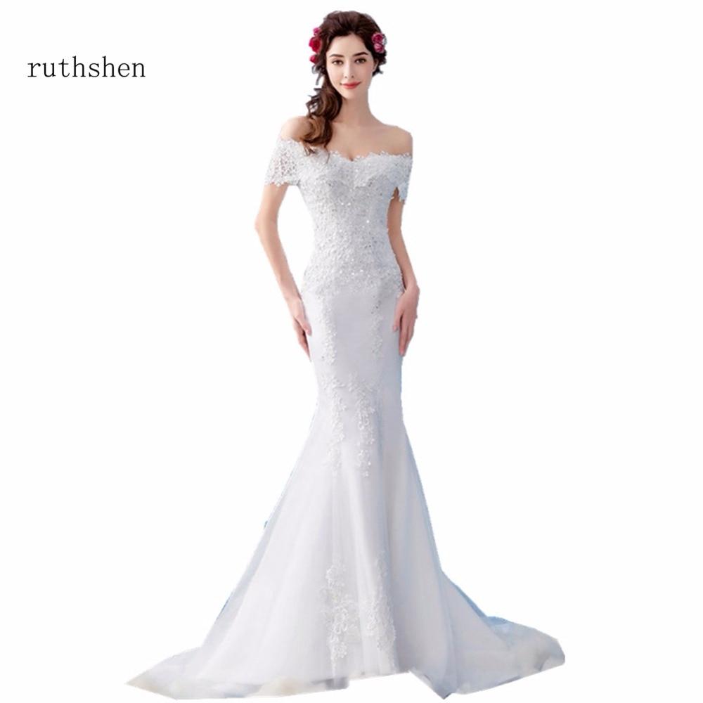 Cheap Mermaid Wedding Dresses: Real Photo Cheap Mermaid Wedding Dresses Princess Corset