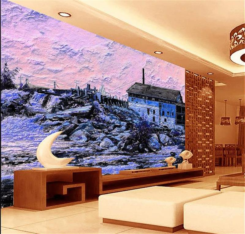 Custom 3D Photo Wallpaper Room Non Woven Murals Color Relief House Painting HD Sofa TV Background For Wall