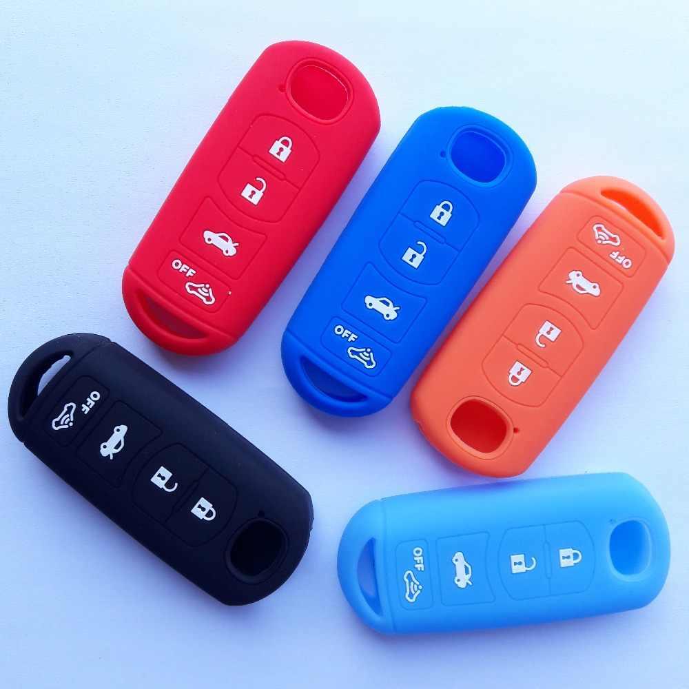 Мешок Силикона удаленный ключевой чехол держатель для Mazda 4 кнопки Smart FOB 3 5 6 CX-7 CX-9 MX-5 Miata