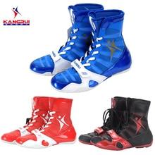 Новинка, 3 цвета, профессиональная боксерская обувь, аутентичная борцовская обувь для мужчин, тренировочная обувь, кожаные кроссовки