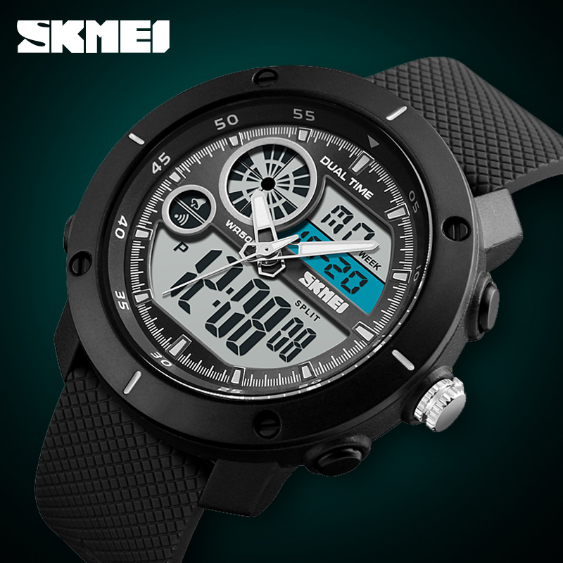 SKMEI Outdoor Sports Watches Men Big Dial Digital Wristwatches Waterproof Electronic Military Watch Male Clock Relogio Masculino skmei fashion outdoor sports watches men electronic digital watch woman waterproof military wristwatches relogio masculino 1228
