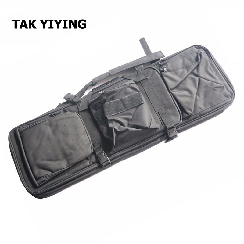 TAK YIYING Airsoft Tactical 85CM Dual Rifle Bag with Shoulder Strap M4 Series High Density Nylon Hunting Gun Bag Case 85cm tactical dual rifle bag shoulder strap airsoft hunting gun backpack handbag protective case magazines accessories pouch