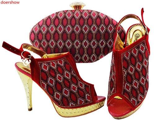 Top Et Set Chaussure 13 Compensées Ensemble Italiennes Chaussures Qualité Or Doershow Italie Assorti Talon Swd1 Avec Sac EAxvvUq