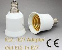 Free shipping 10pcs/lot high quality E12 to E27 lamp adapter holder socket converter