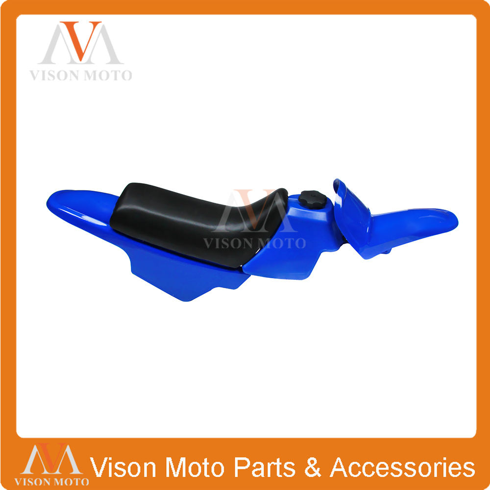 цена на Faring Body Plastics Kits Gas Oil Tank Seat Front Rear Fender For YAMAHA PW50 PY50 PW PY 50 PEE WEE PEEWEE Blue Bodywork