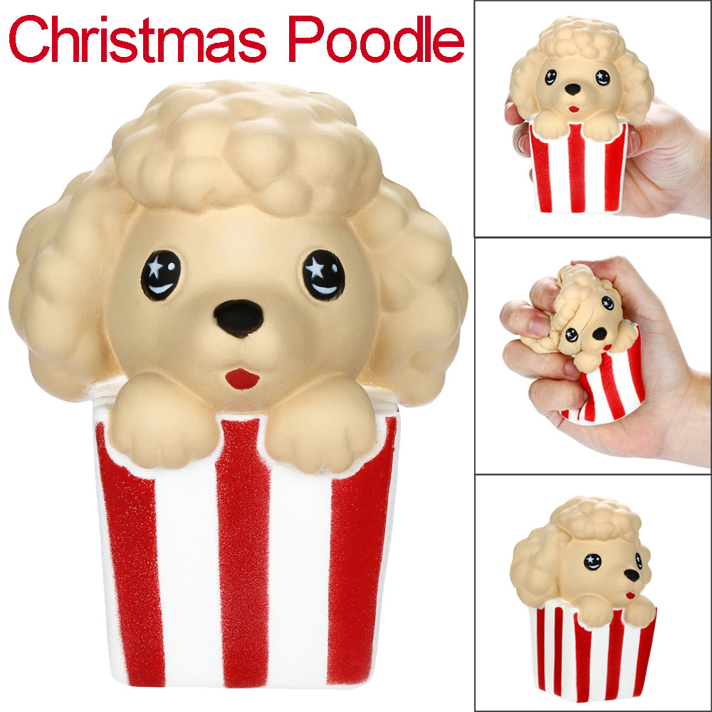 Kneaded Cute Christmas Poodle Slow Rising Fruits Scented Stress Relief Toy  F5