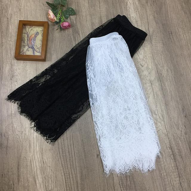 Lace underskirt medium long autumn and winter single layer guaze plus size half slip