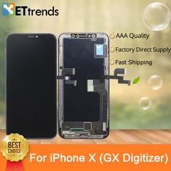 2 pz/lotto di Qualità A + GX Schermo OLED Display Per il iphone X Dello Schermo Digitizer Assembly Colore Perfetto con DHL di Spedizione la nave