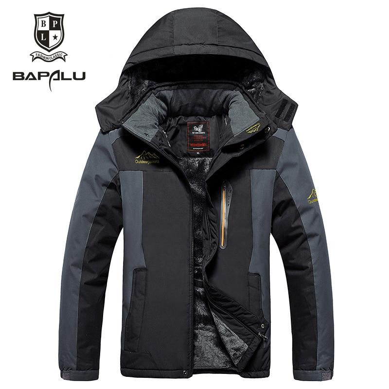 Winter Jacket men big yards 5XL6XL7XL8XL9XL Plus thick velvet Hooded jacket men's Windproof waterproof casual warm jacket coat