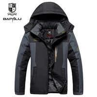 winter clothes men 7XL 8XL 9XL jacket Plus velvet thickening Hooded Windbreaker parka men's casual warm Cotton jackets coat
