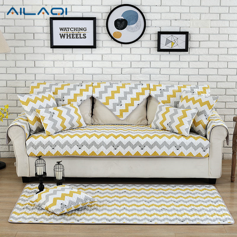 Ailaqi Modern Stripe Non Slip Sofa Couch Covers Creative