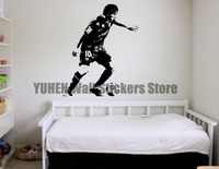 Messi Football Wall Stickers Star Sports Player Wall Decals Children Bedroom Bedroom Dinette Vinyl Removable Glass