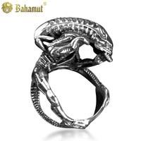 Alien Vs Predator AVP Hibernation Alien Silver Plated Rings Men S Jewelry
