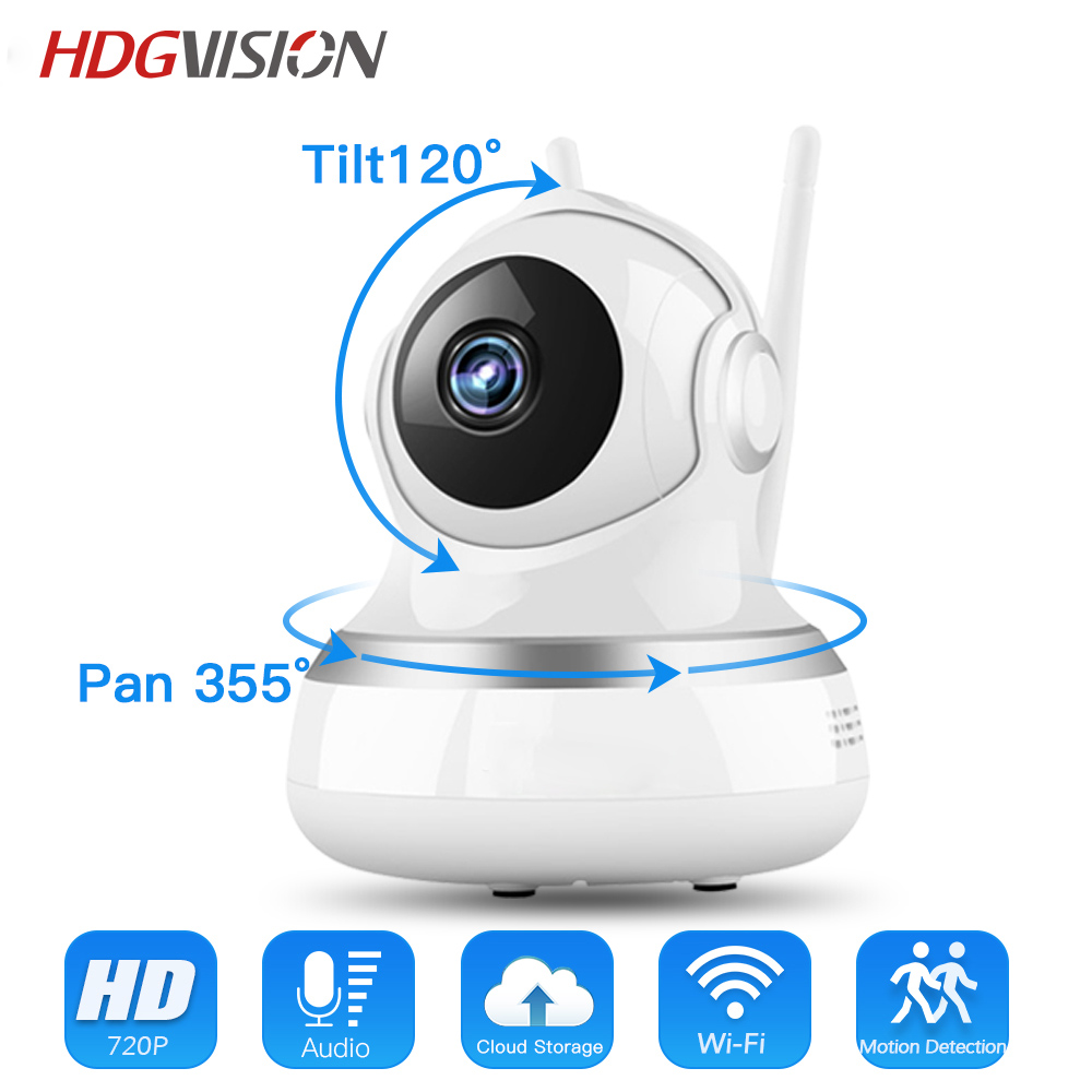 Hdgvision 720P Smart Wifi Ip Camera Wi-fi CCTV Surveillance Wireless IR-Cut Night Vision ...