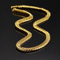 Красивый дородный мужская твердого желтого золота подан Фигаро толстый ожерелье цепь 19.68
