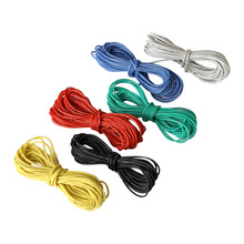 Hook-up Stranded Wire 22 AWG with UL3132 Flexible Silicone Wire Rubber Insulated Tinned Copper 300V Electrical Wire for DIY