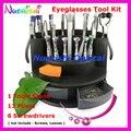 Высокое качество очки очков очки ремонт комплект инструментов 13 клещи 6 отвертка B07AB бесплатная доставка