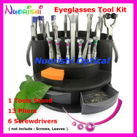 Top Quality Eyewear Eyeglass Glasses Repairing Tool Kit Set 13 Pliers 6 Screwdriver B07AB Free Shipping