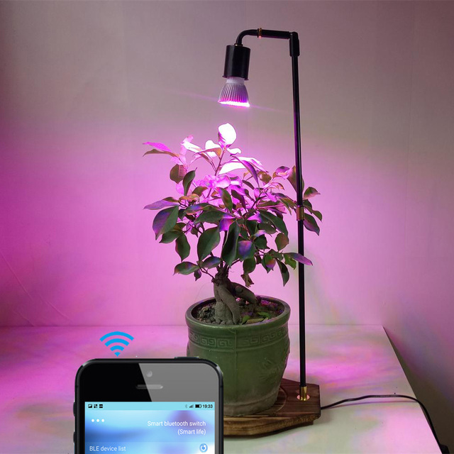 Grow Light Stand Led: 30W LED Plant Grow Light Desk Table Lamp With Smart Timer