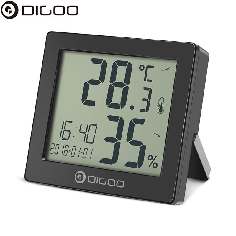 DIGOO DG-C11 Digital Clock  Table Desktop Alarm Clock with Temperature Thermometer Humidity Hygrometer Hourly Chime CalendarDIGOO DG-C11 Digital Clock  Table Desktop Alarm Clock with Temperature Thermometer Humidity Hygrometer Hourly Chime Calendar