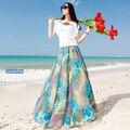 НОВЫЙ Высокое Качество шифон юбка женщины высокой талией юбка летом 8 м расширение нижней юбки женщин