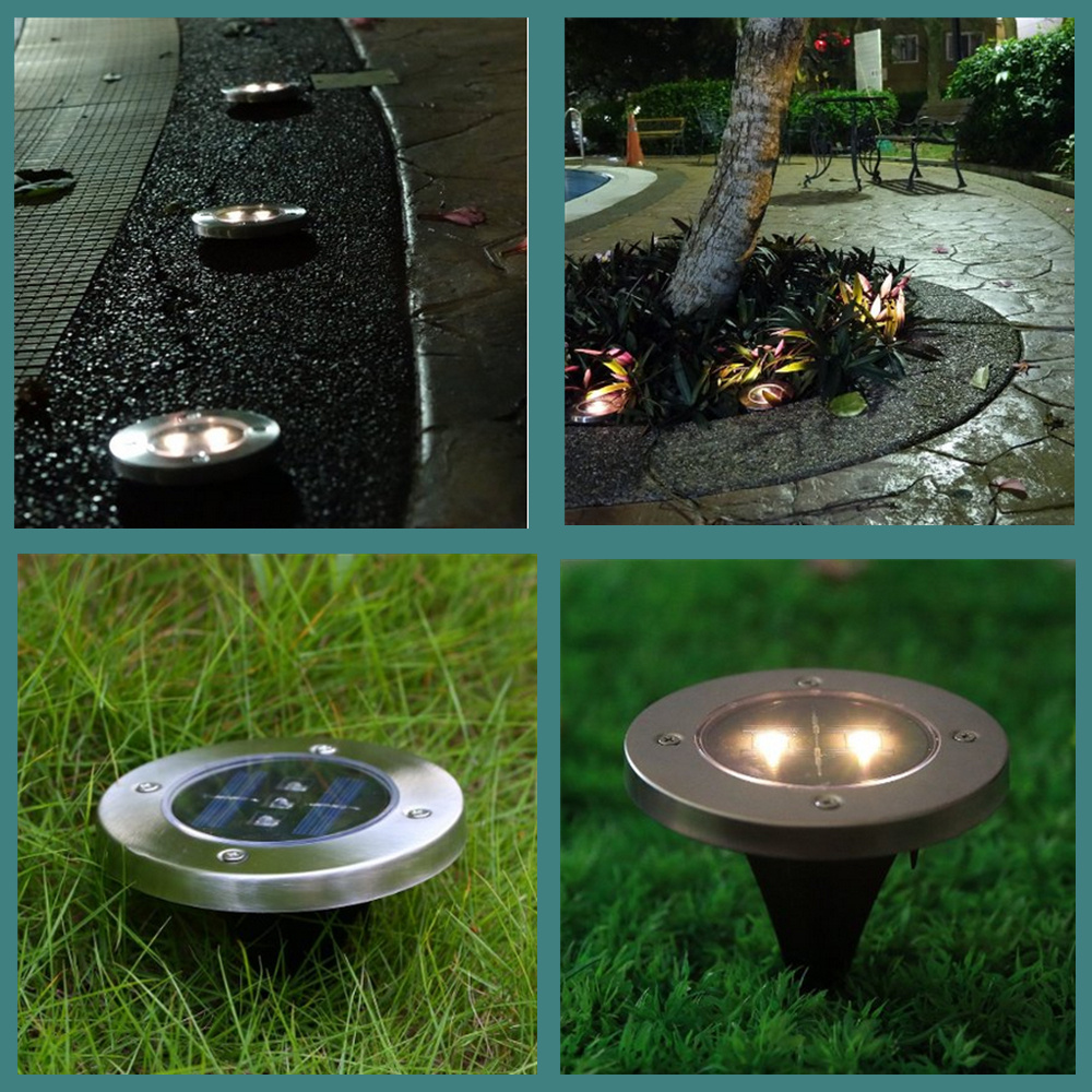 Pack Of 5 Stainless Steel Waterproof Solar Powered Led