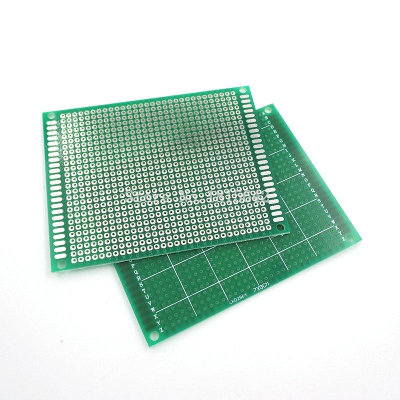 5 шт./лот 7*9 см Односторонняя печатная плата, макетная плата, универсальная плата из стекловолокна, зеленая печатная плата 7x9 см