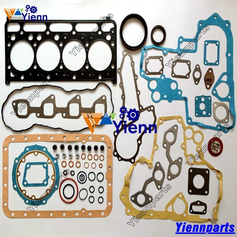 US $178 0 |Kubota V2203 Full Gasket kit with head gasket 19077 03310 For  kubota V2203 V2203MDI V2203E V2203B Diesel engine repair Parts-in Pistons,
