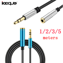 Icoque Earphone Jack 3.5mm Audio Extension Cable 5m Male to Female 1m 3m Aux Cables for Headphones Computer Phone Cord Extender