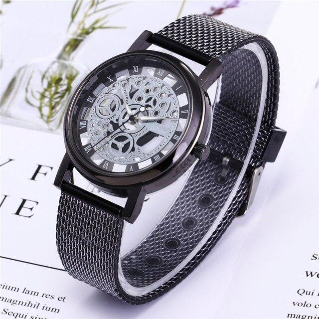 ff9bc3a4e58 Plástico Esporte Militar De Quartzo De Aço Inoxidável dos homens De Luxo  Dial Banda Relógio de