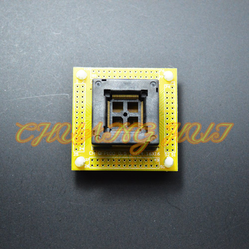 QFP100 test socket TQFP100 LQFP100 ic socket with PCB 0.5mm pitch size 14mmx14mm 16mmx16mm