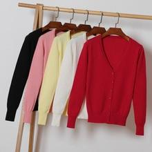цены на V Neck Casual Cardigan Sweater Autumn 2019 Long-sleeved Loose Knit Cardigan Tops for Women Plus Size Sweater Top  в интернет-магазинах