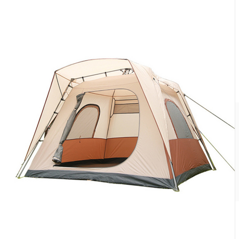 One Big Bedroom Waterproof Tent Ultralarge 5 - 8 Person Fully-Automatic Opening Tent in one person