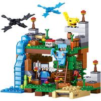 378pcs 4 In 1 MY WORLD Minecrafted Figures City Building Blocks Bricks Set Educational Toys For