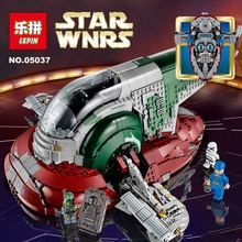 Lepin 05037 Star Wars UCS Slave I Slave NO.1 Model 2067pcs Minifigure Building Block Toys 100% Compatible With Legoe 75060 Toy