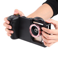 169401824d48d2 Black Durable Smartphone Cage Protector Video Mount Case with Wide Angle  Lens