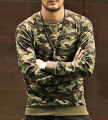 New 2016 Men's Hoodies Camouflage Sleeves Splice Casual Sweatshirt military Fashion Capless Jacket Men Hip Hop Sportswear