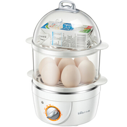 T,7 Egg Boiler Cookers Multi-function Electric Double Egg Cooker egg steamer 360W 30min timing with 4 stainless steel bowl,2151