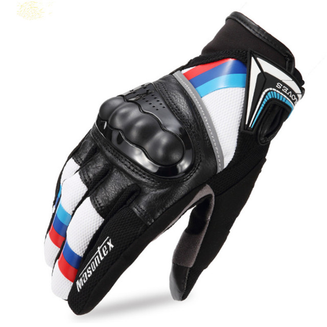 Genuine Leather Touch Screen Breathable Gloves Motorcycle Riding Gloves Outdoor Motocross Racing Protective Gloves guantes moto