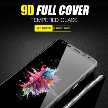 New 9D full coverTempered Glass hd For Samsung s8 Screen Protector With 9D for Galaxy Note 8 Screen Toughened Glass Protective newtop toughened glass screen protector for samsung galaxy note 3 n9000 n9005 transparent