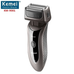 Kemei9001 3 heads electronic rechargeable shaver triple blade electric shaving razors men face care 3d floating.jpg 250x250